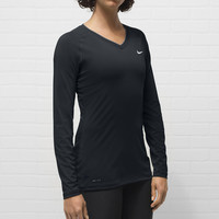 Nike Lady Pro Core V-Neck Long Sleeve Running Top