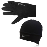 Nike Dri-Fit Glove and Beanie Running Set