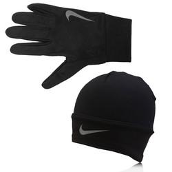 Nike DriFit Glove and Beanie Running Set