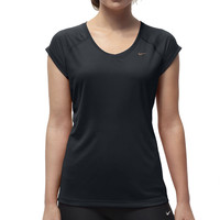 Nike Miler Women's V-Neck Short Sleeve Running T-Shirt