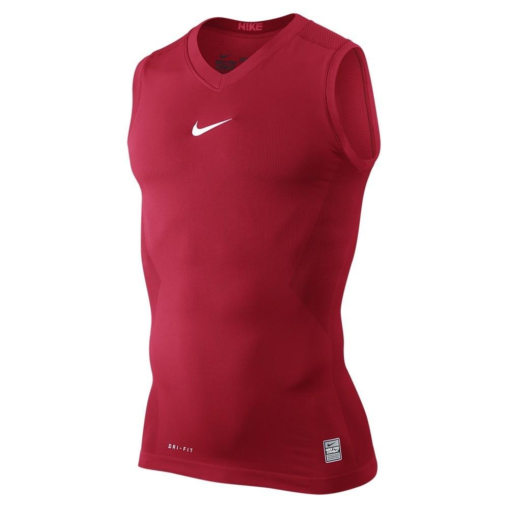 Nike pro hypercool sleeveless compression t shirt for Nike men s pro cool sleeveless shirt