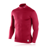 Nike Pro Hyperwarm Mock Long Sleeve Compression Running Top