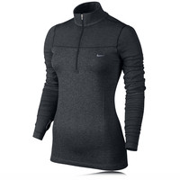 Nike Lady Dri-Fit Knit Long Sleeve Half Zip Top