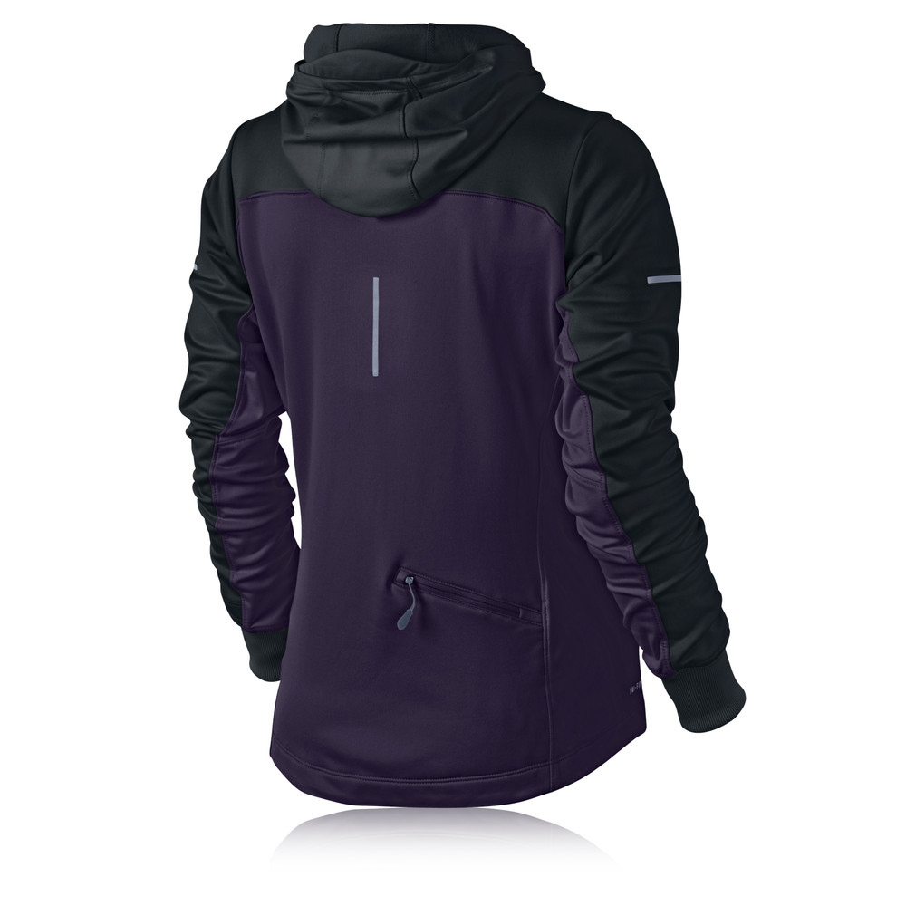nike thermal women 39 s half zip long sleeve hooded top. Black Bedroom Furniture Sets. Home Design Ideas