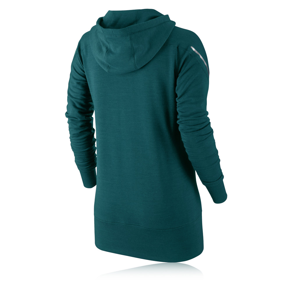Nike Dri Fit Wool Women 39 S Long Sleeve Hooded Top Sp14