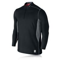 Nike Pro Combat Hyperwarm Quarter-Zip Long Sleeve Mock Running Top