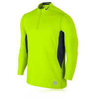 Nike Pro Combat Hyperwarm Quarter-Zip Long Sleeve Mock Running Top