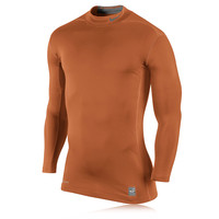 Nike Pro Hyperwarm Dri-Fit Mock 2.0 Compression Running Top