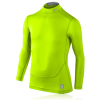Nike Pro Core Junior Mock Long Sleeve Compression Running Top