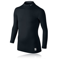 Nike Pro Hyperwarm Junior Long Sleeve Mock Neck Compression Running Top