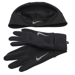 Nike DriFIT Thermal Running Hat and Gloves Set