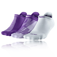 Nike Dri-Fit Graphic No Show 3 Pack Women's Socks