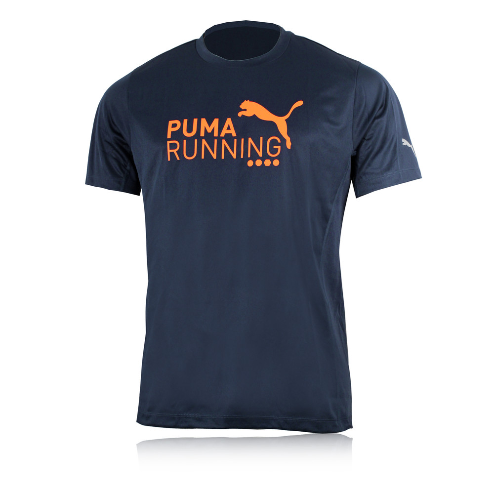 puma pe logo short sleeve running t shirt