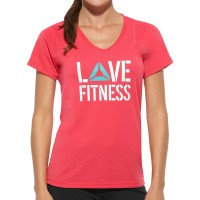 Reebok Lady Fitness Delta Love Fitness Short Sleeve T-Shirt