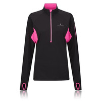 Ronhill Vizion Kinetic Women's Half Zip Long Sleeve Running Top