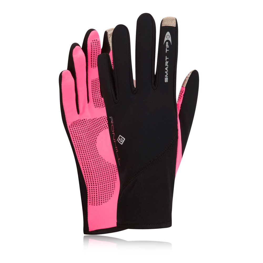 Head Multi Sport Gloves With Sensatec Black Large: Ronhill Womens Pink Black Sirocco Thermalite Smart-Tip