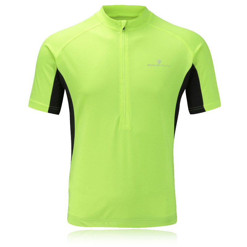 Ronhill bikewear mens hi viz cycling athletic short sleeve for Hi viz running shirt