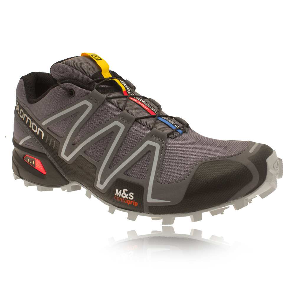 Salomon Speedcross 3 Mens Grey Light Trail Running Trainers Pumps Sports Shoes | eBay
