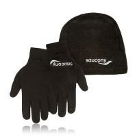 Saucony Micro-Fleece Running Hat and Glove Set