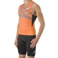Saucony Triathlon Half-Zip Tank Vest