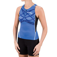Saucony Lady Triathlon Half-Zip Tank Vest