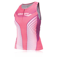 Saucony Lady Tri Half Zip Compression Top