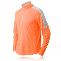Saucony Transition ViZipro Half-Zip Long Sleeve Running Top