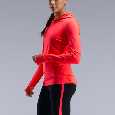 Saucony Ruched Women's Long Sleeve Hooded Running Top picture 3