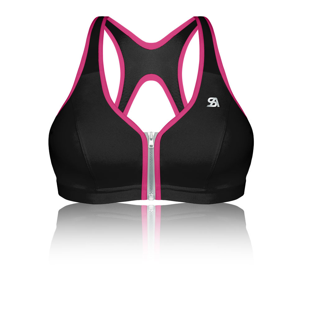 Shock Absorber Active Zipped Plunge Support Sports Bra