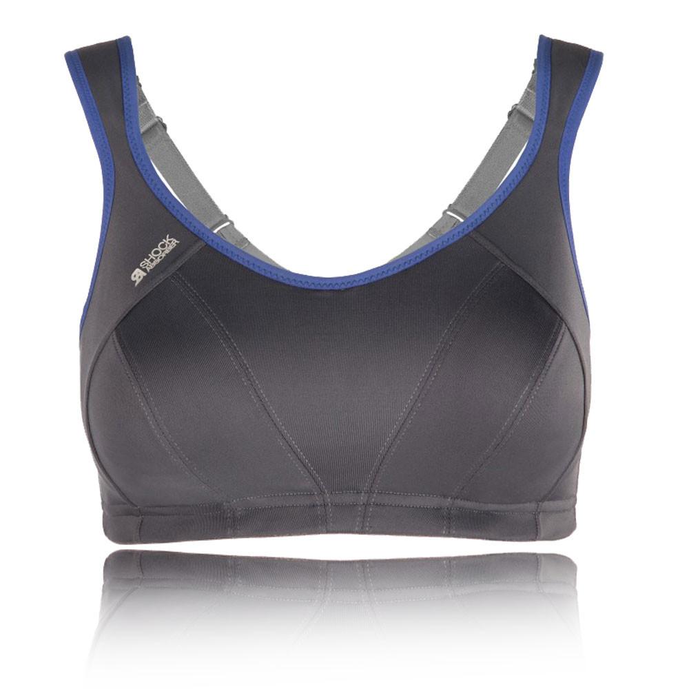 Shock-Absorber-Active-Multi-Support-Femmes-Gris-Bleu-Soutien-Gorge-De-Course-Gym