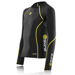 Skins Youth Bio A200 Compression Long Sleeve Running Top