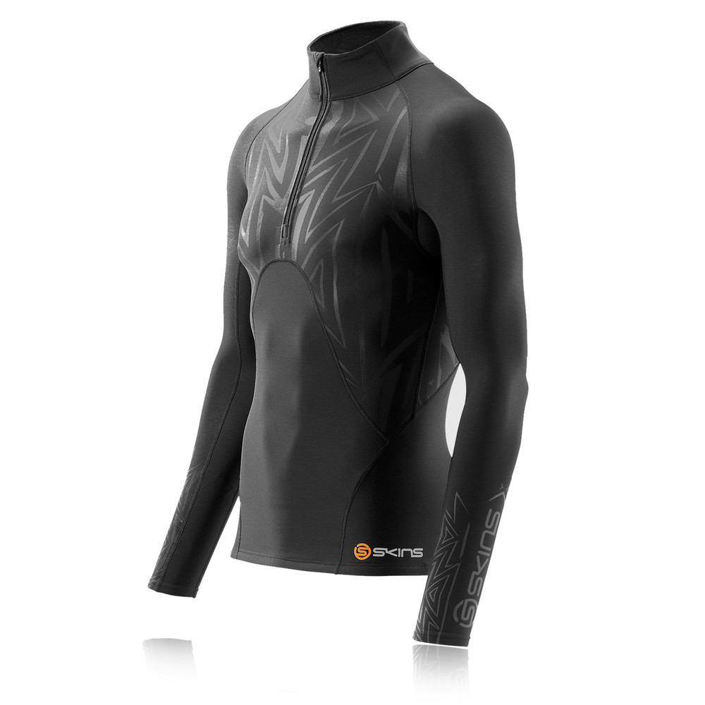 Skins S400 Extra Warm Mock Neck Half-Zip Long Sleeve Compression Top