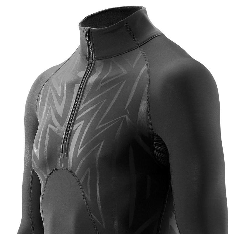 Skins S400 Extra Warm Mock Neck Half-Zip Long Sleeve Compression Top