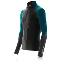 Skins S400 Mock Neck Half-Zip Long Sleeve Compression Running Top