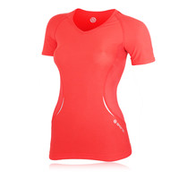 Skins A400 Women's Short Sleeve Compression Running T-Shirt (H Fit)