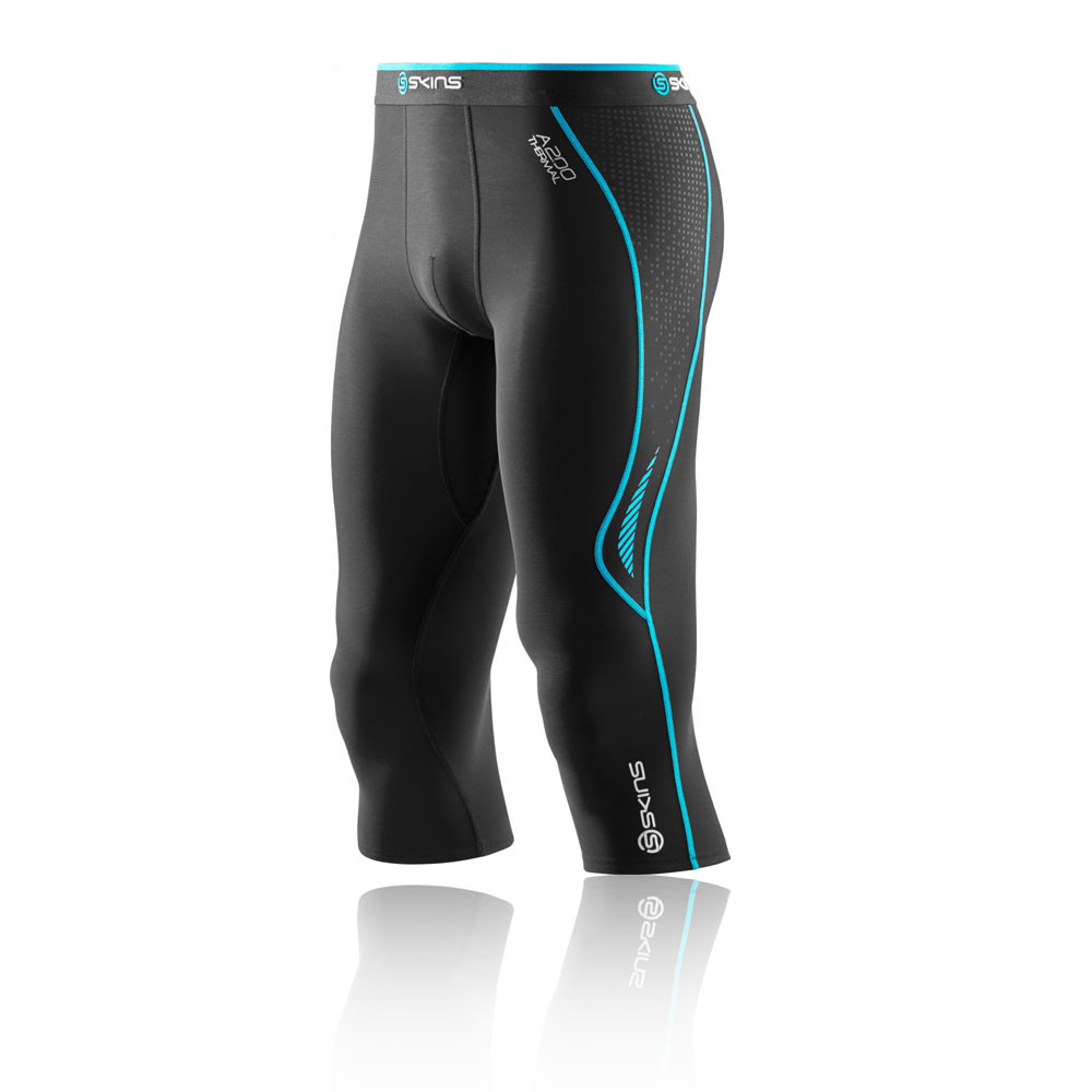 Skins A200 Thermal Compression Capri Running Tights - AW15