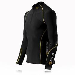 Skins Bio A200 Thermal Long Sleeve Half Zip Mock Top
