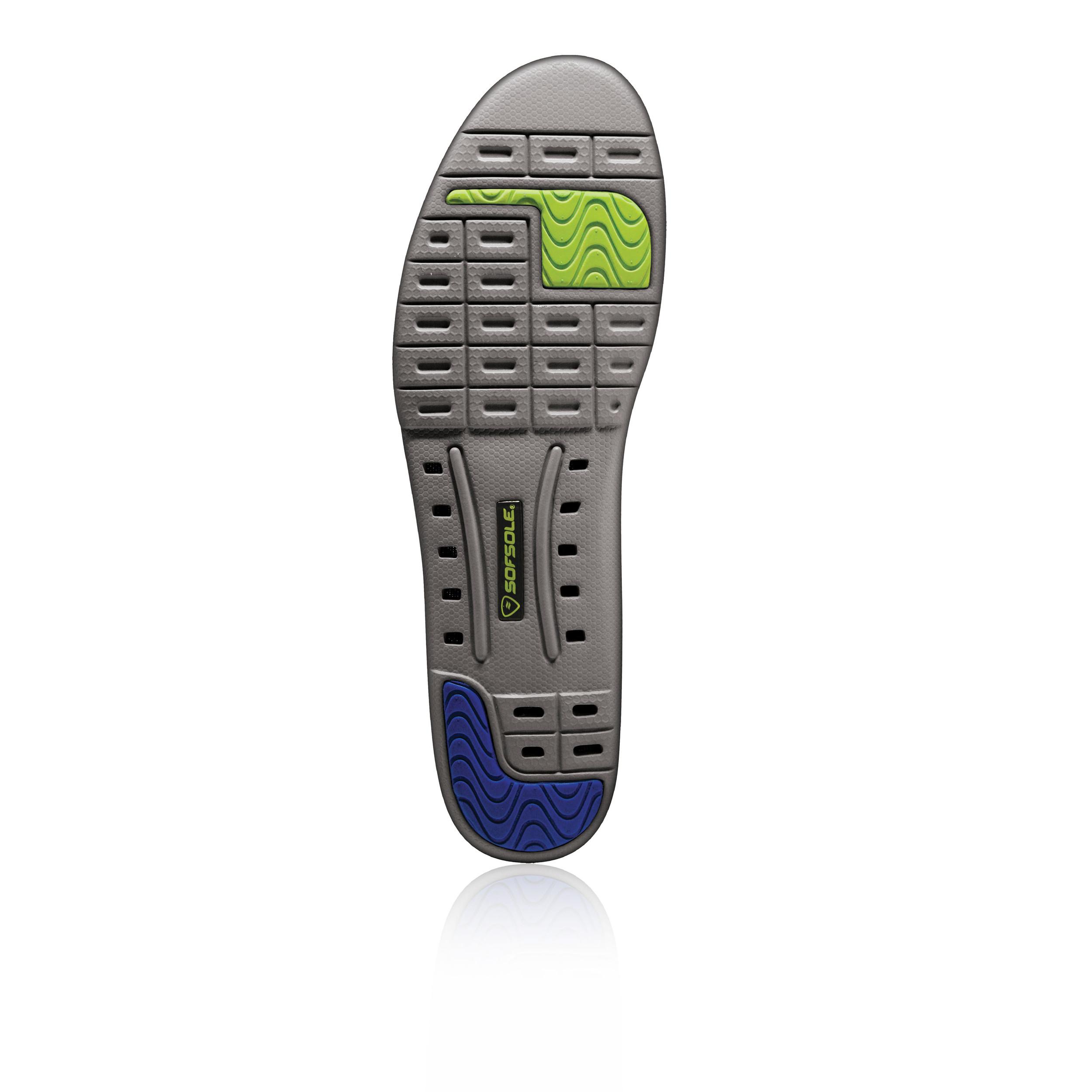 sofsole thin fit mens black coolmax running sport shoe