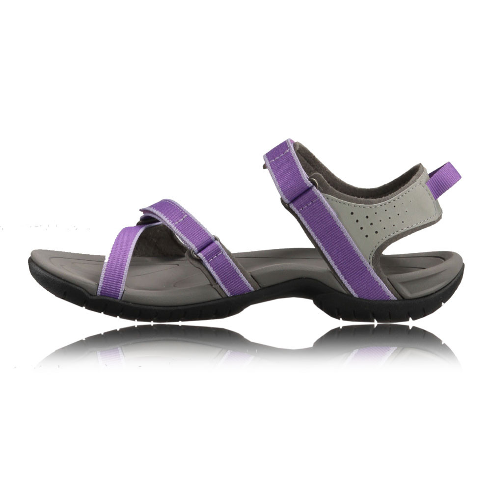 Awesome Teva Tirra Leather Womens Black Strap Walking Outdoors Sandals Summer Shoes | EBay
