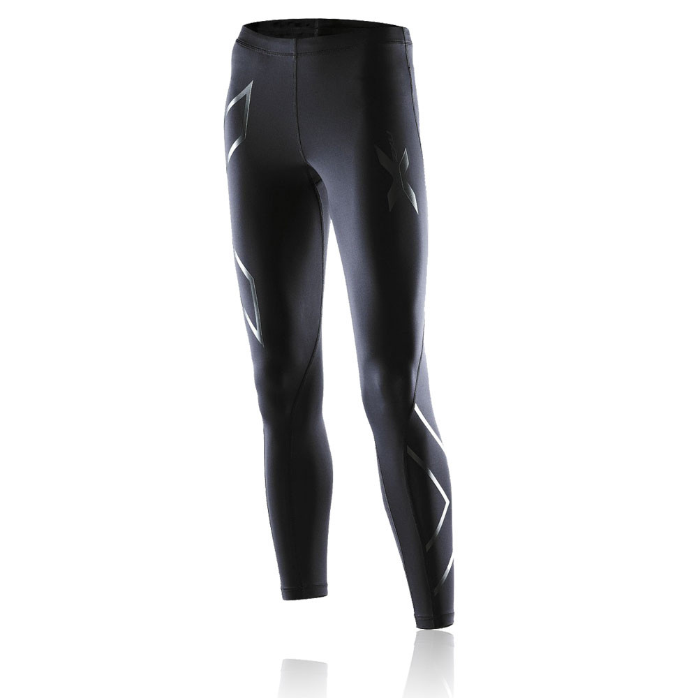 Cool 2XU Womens Black Compression Running Sports Capri Tights Bottoms Pants