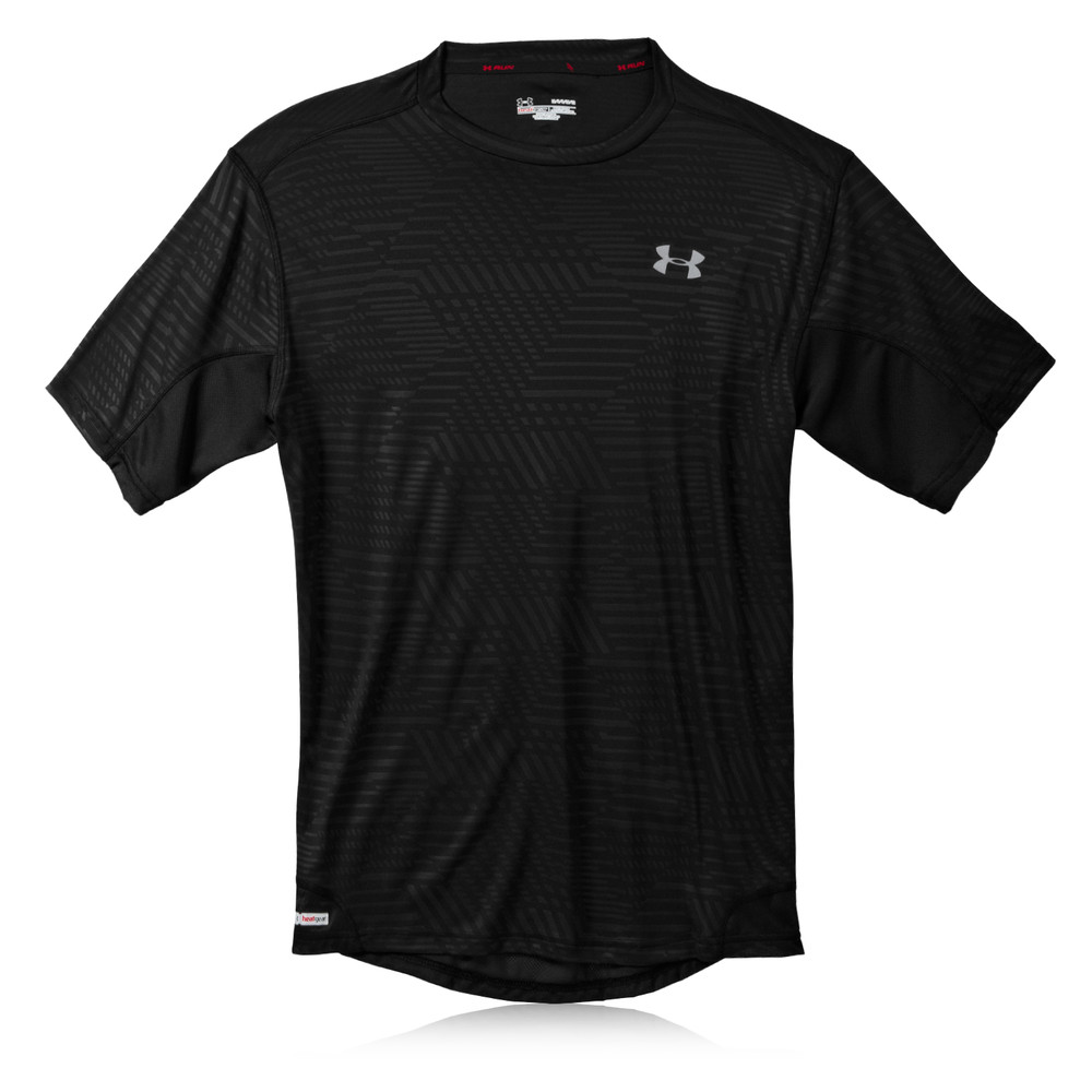 Under armour heatgear flyweight run printed t shirt for Printed under armour shirts