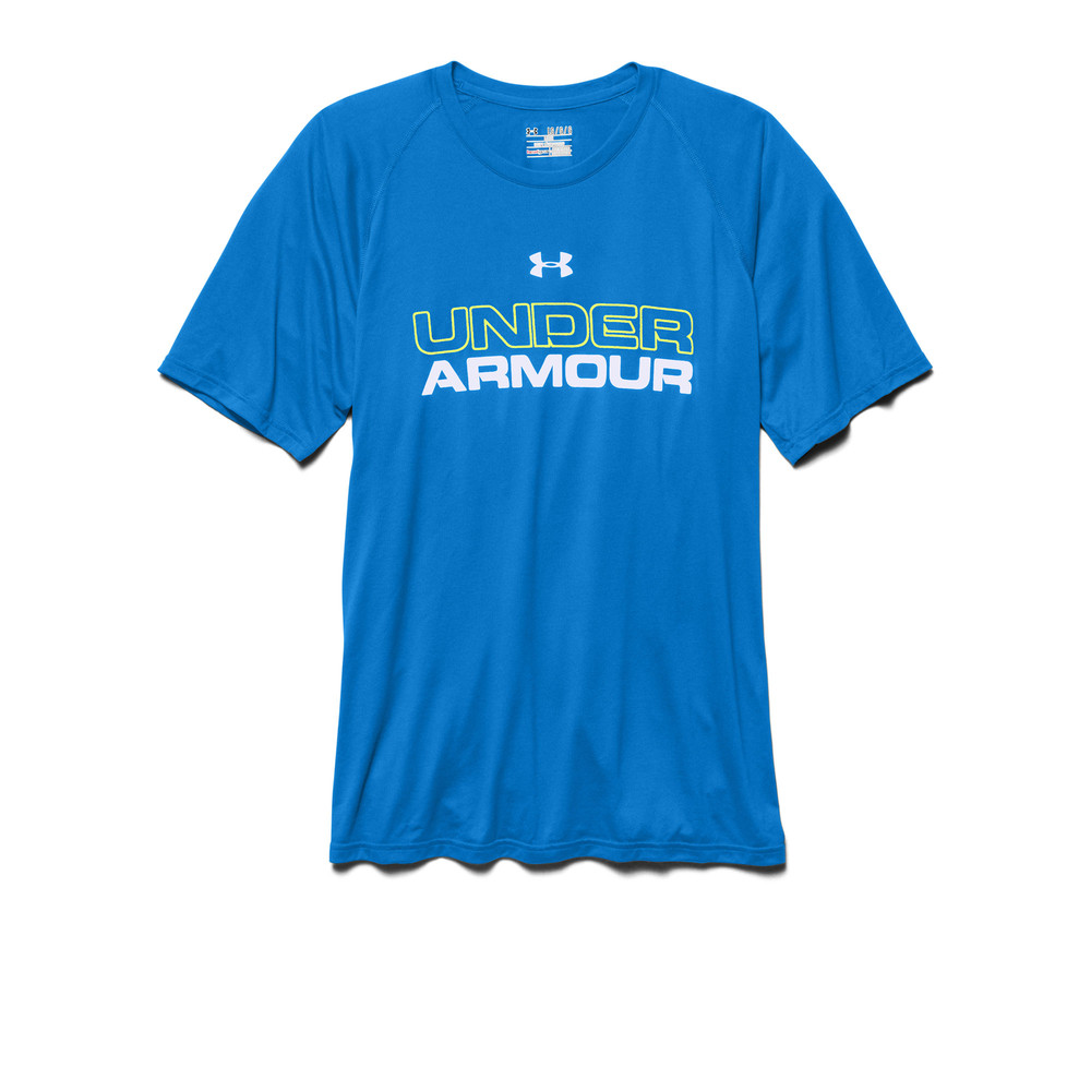 Under Armour Core Mens Blue Training Graphic Short Sleeve