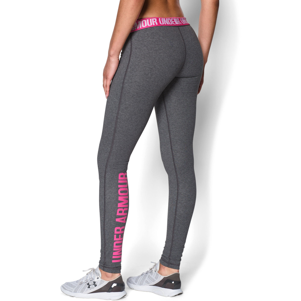 under armour favourite legging wordmark womens grey running sports pants ebay. Black Bedroom Furniture Sets. Home Design Ideas