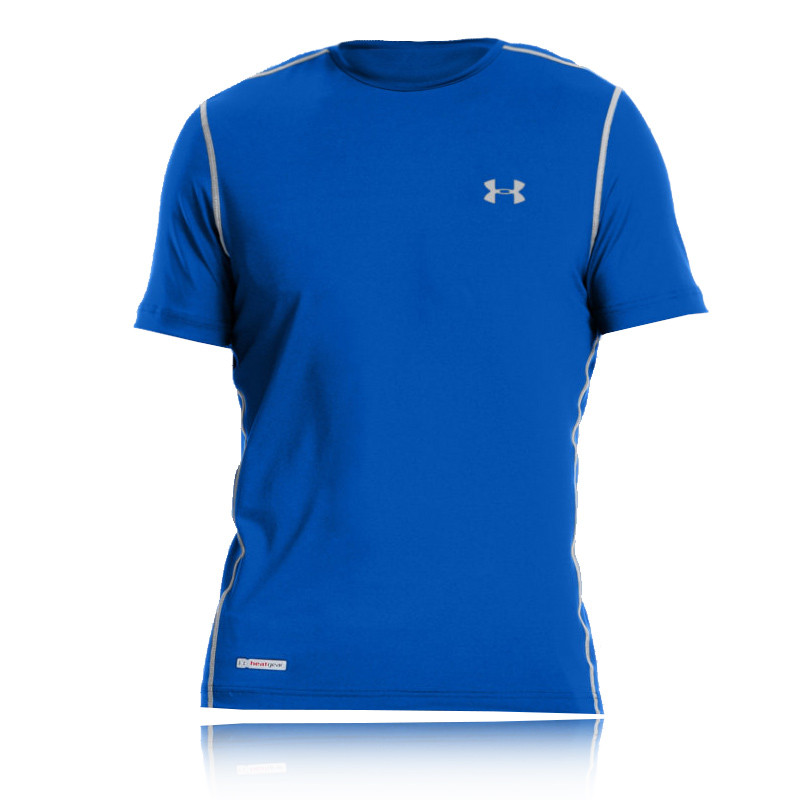 Under armour heatgear sonic fitted short sleeve running t for Under armour fitted t shirt