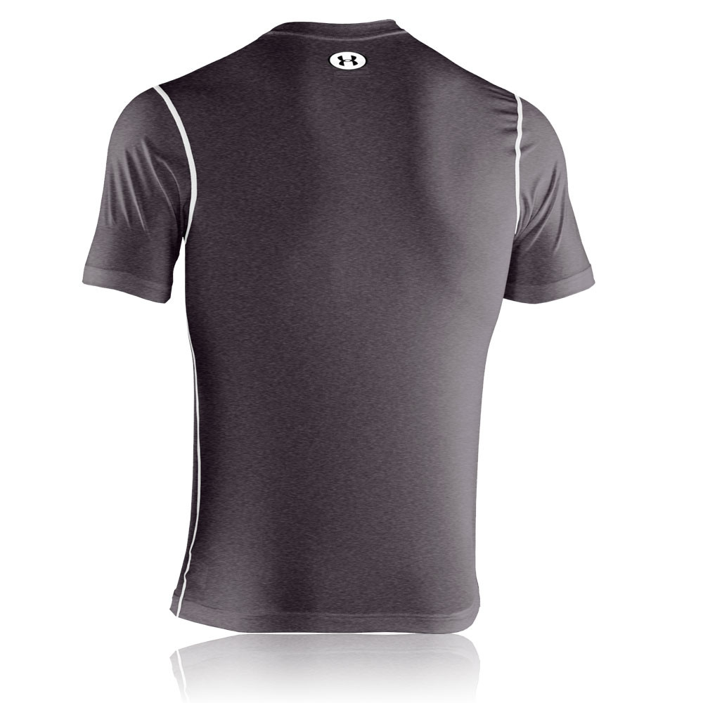 Under armour heatgear sonic fitted short sleeve t shirt for Under armour fitted t shirt