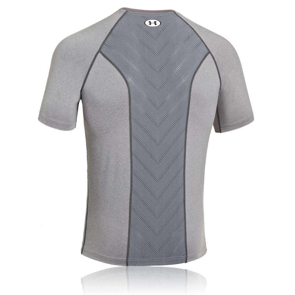 Under armour heatgear sonic armourvent short sleeve for Do under armour shirts run small