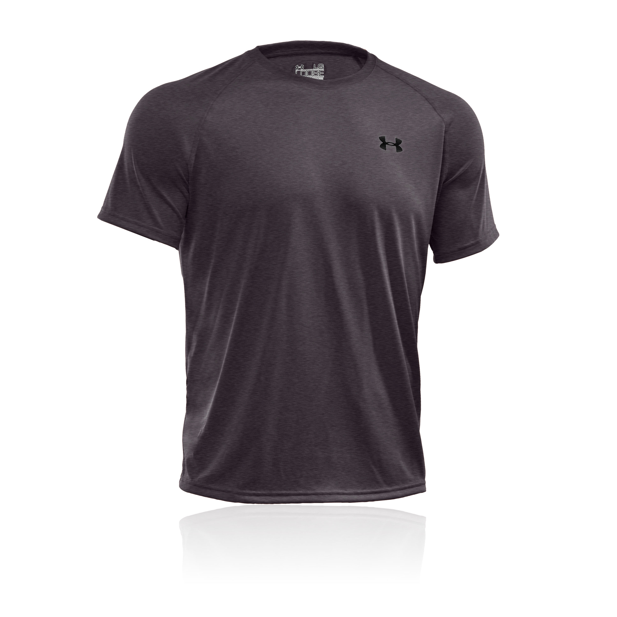 Under Armour Tech Mens Grey Short Sleeve Crew Neck Sport