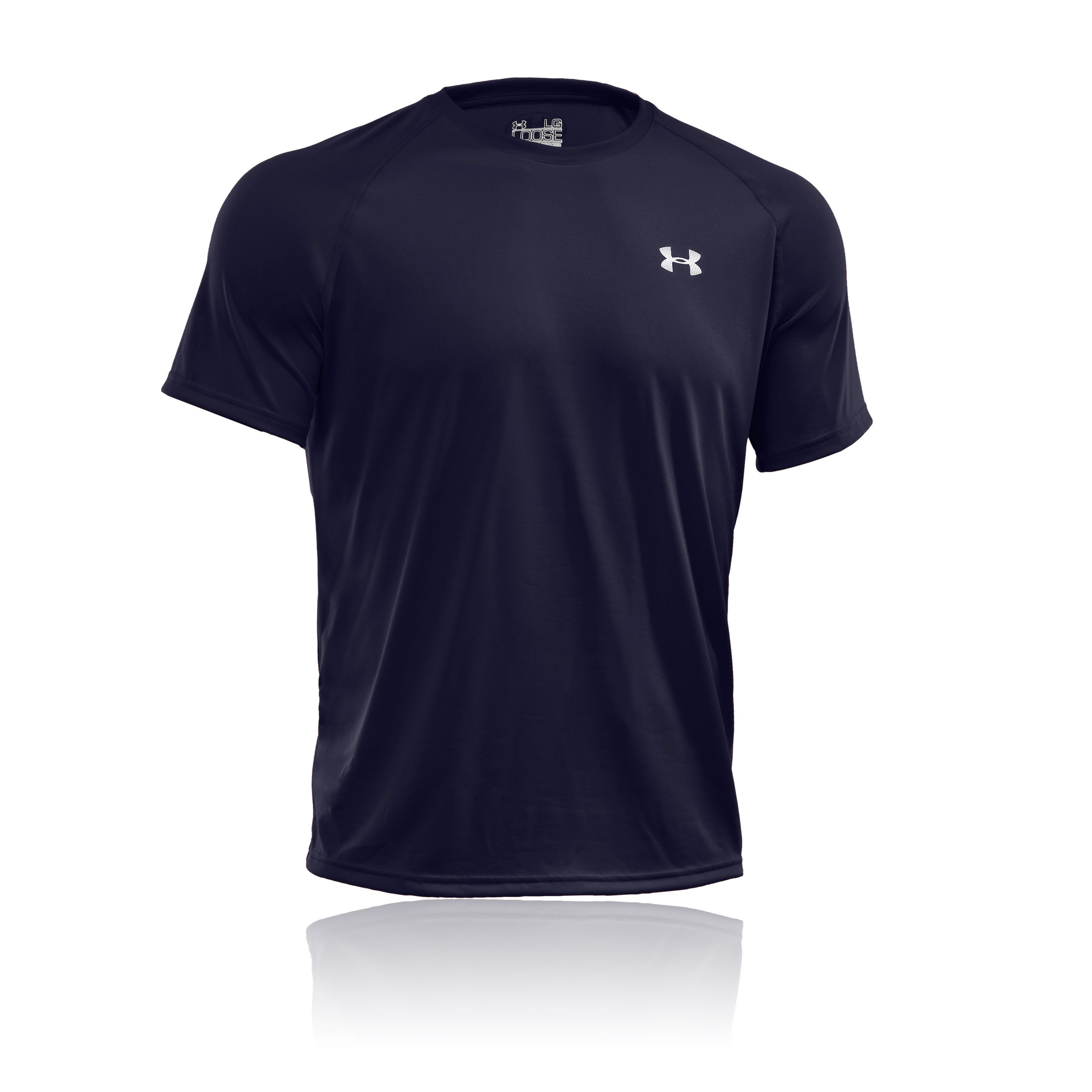 Under armour tech mens navy blue breathable short sleeve for Mens under armour shirts