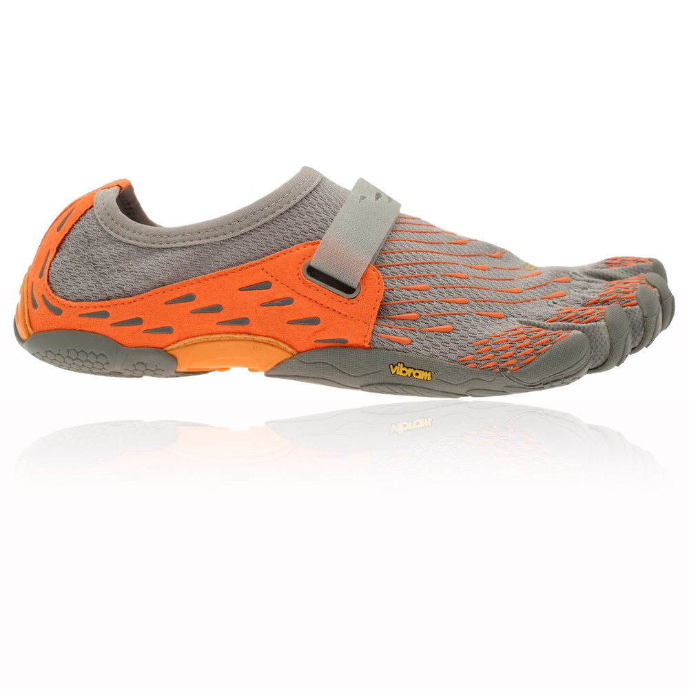 vibram fivefingers seeya mens orange grey running sports
