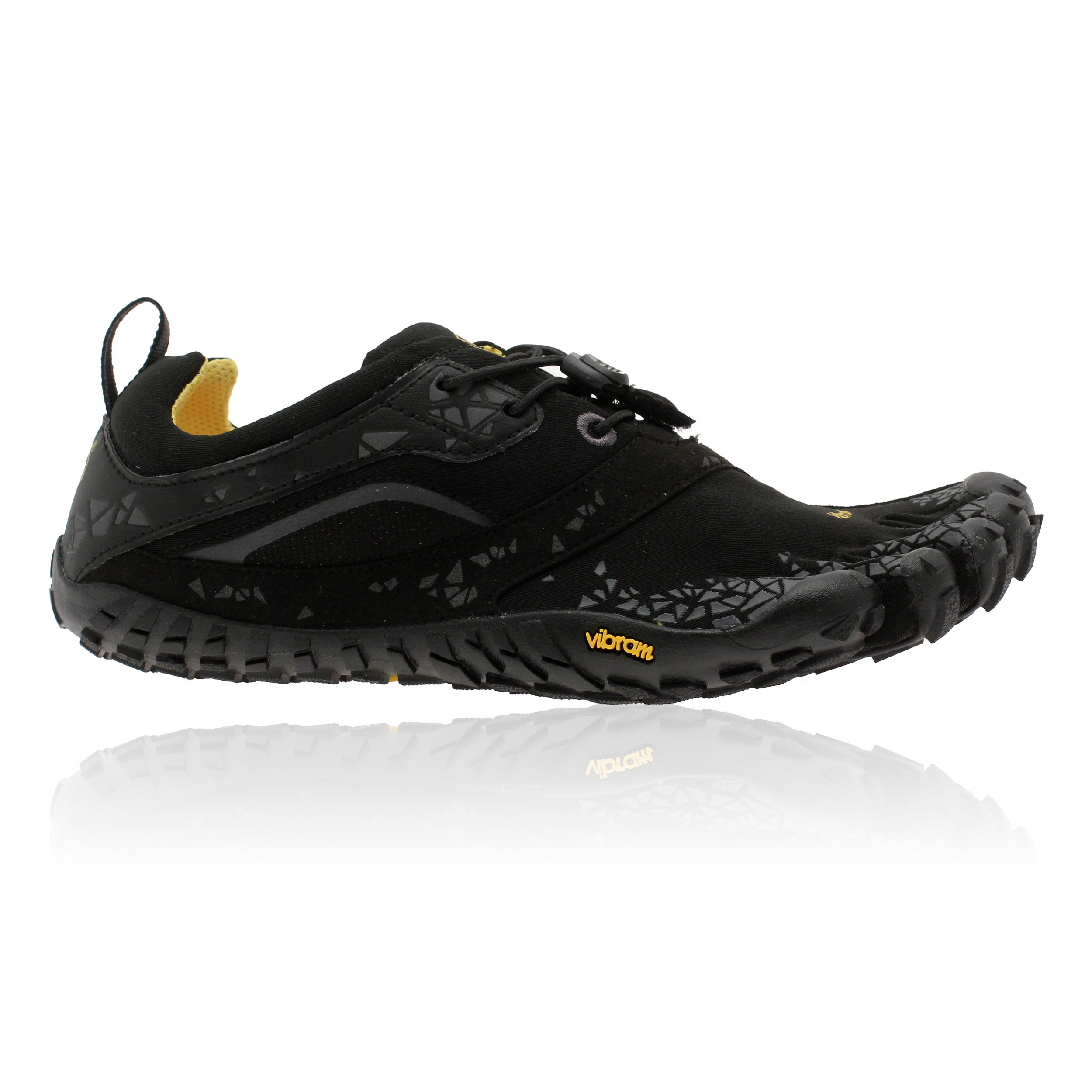Vibram Black And Yellow Shoes
